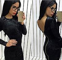 Платье из велюра 0115