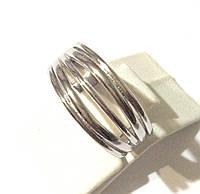 Серебряное кольцо гладкое