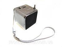 Мини портативная MP3 колонка от USB FM WSA7 Silver