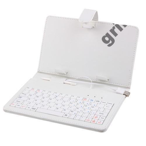 "Чехол клавиатура для ПК планшета 7"" Rus White Usb или micro"