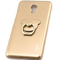Чехол с кольцом PLATINUM для Meizu M3 Note золотистый