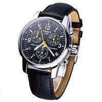 Мужские наручные часы TISSOT PRC200 кварцевые черный циферблат черный ремешок