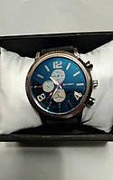 Наручные часы Curren кварцевые корпус металл, ремешок черный нейлон, циферблат синий