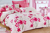 Постельное сатин двуспальный Евро ELWAY. Польша. Комплект постельного белья 220х240 см