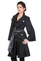 Женское весеннее пальто Арден 42р. 52 Черный