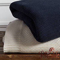 Плед-покрывало 230х240 100% cotton CASUAL AVENUE Fulham Knit Blanket кремовый