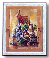Репродукция  современной картины  «Натюрморт с виноградом»
