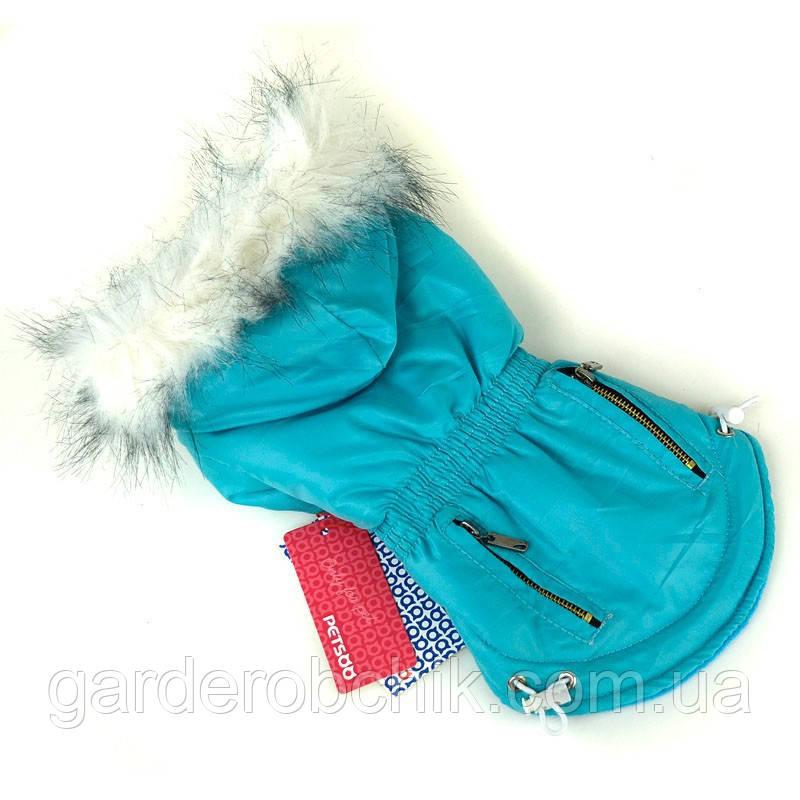 """Куртка, пальто теплое для собаки """"Молнии"""". Одежда для животных"""