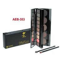 Набор для профессионального макияжа бровей AEB-353  Alex Horse (тени для бровей) (10+5)