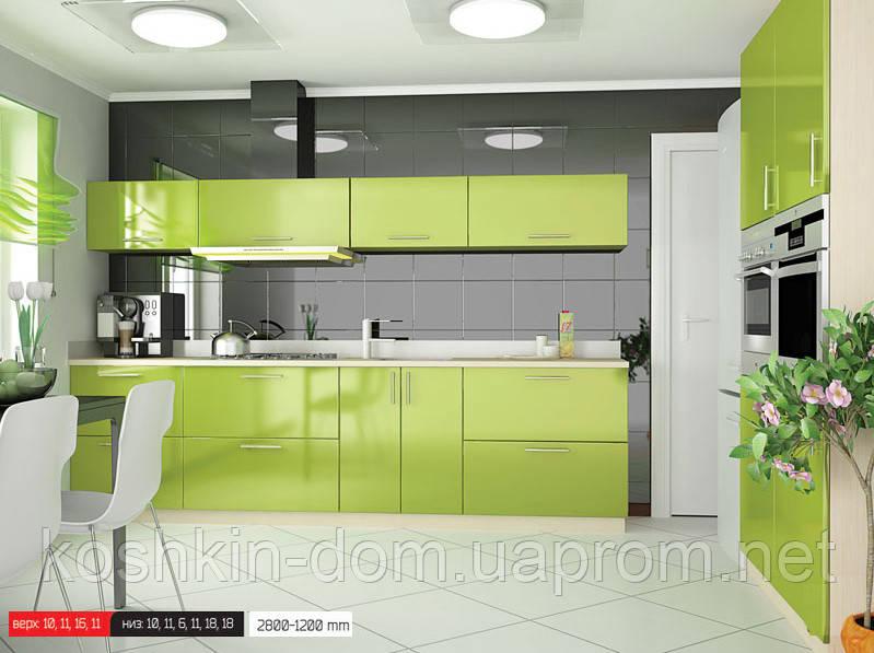 Кухня модульная MDF пленочный олива 2800*1200 мм