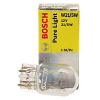 Лампа накаливания W21/5W 12V W3x16q PURE LIGHT (пр-во Bosch)