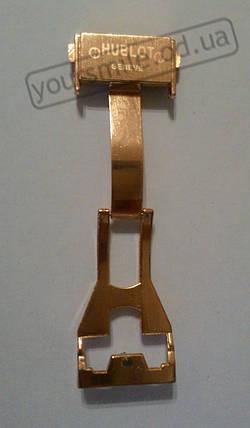 Застежка бабочка для часов hublot big bang HUBLOT Big Bang Gold Black Ремешок , фото 2