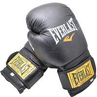 Перчатки боксерские из натуральный кожи EVERLAST AMERICAN STAR (8 унций, черный)