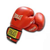 Перчатки боксерские из натуральный кожи EVERLAST AMERICAN STAR (8 унций, красный)