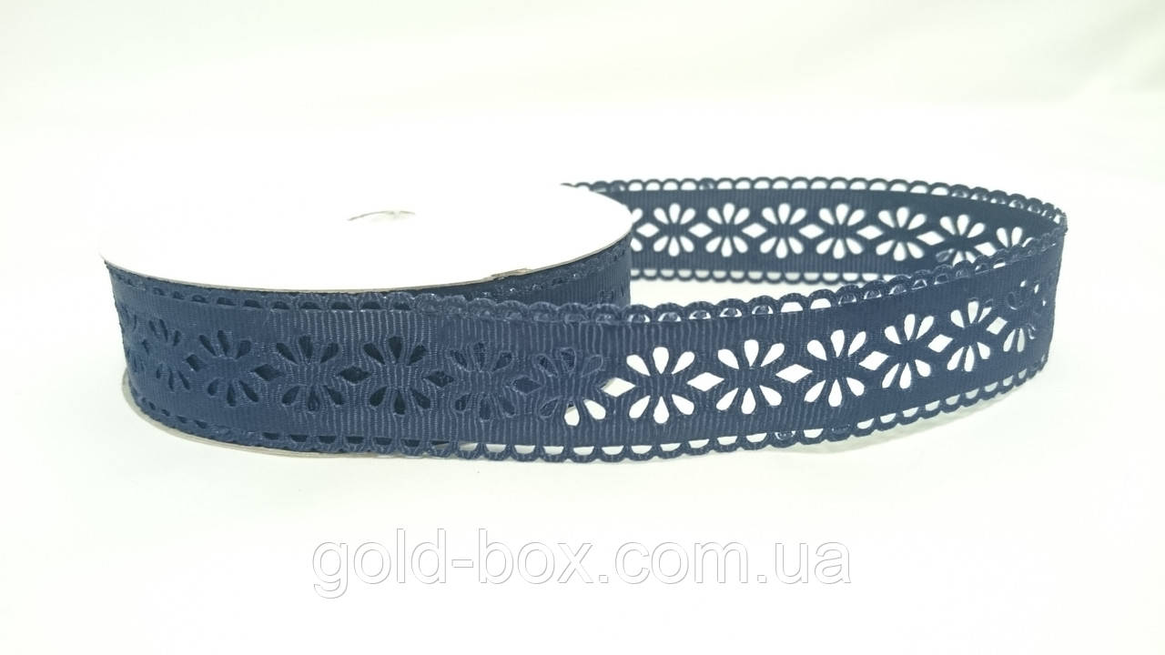 Декоративная лента с перфорацией синяя