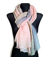 Легкий шарф Палермо из вискозы и хлопка, персик/индиго/серый