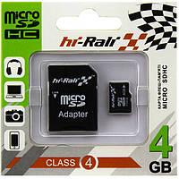 Карта памяти micro SD HI-RALI 4GB class 4 с адаптером SD