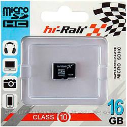 Карта памяти micro SD HI-RALI 16GB class 10