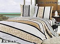 Постельное сатин полуторный ELWAY. Польша. Комплект постельного белья 160х220 см. 3029
