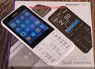 Мобільний телефон Nokia 230 GPRS Білий Екран 2.8'