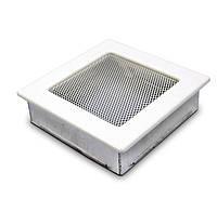 Вентиляционная решетка для камина белая 17х17 см