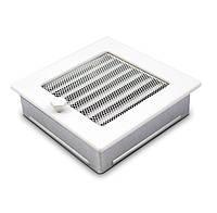 Вентиляционная решетка для камина белая 17х17 см с жалюзи