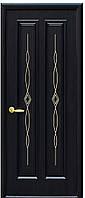 Дверь ИНТЕРА СТЕЛЛА, ПВХ DeLuxe  grey, венге nev, золотая ольха, каштан, ясень (с гравировкой Gold) тип3