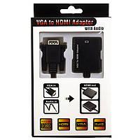 Переходник-конвертор HDMI гнездо-VGA штекер черный