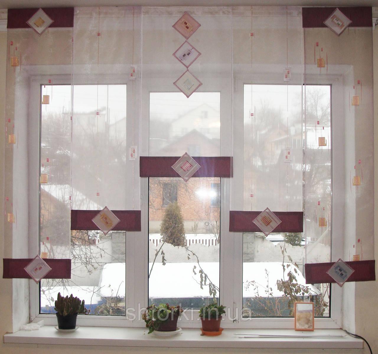 Японские панельки Ромбы сиренево-розовые
