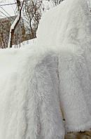 """Плед из искусственного меха """"Лама"""" 220*240 см белый"""