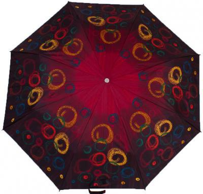 Контраснный женский зонт, полуавтомат ZEST (ЗЕСТ) Z23629-18 Бордовый