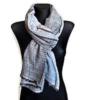 Легкий шарф Палермо из вискозы и хлопка, графит/индиго/серый