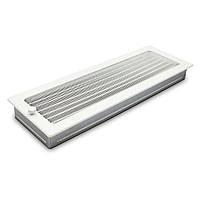 Вентиляционная решетка для камина белая 17х49 см с жалюзи