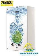 Газовая колонка ZANUSSI Glass Lime (розжиг от батареек)
