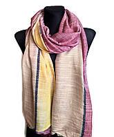 Легкий шарф Палермо из вискозы и хлопка, бордо/орех/желтый