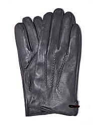 Мужские кожаные перчатки на плюшевой подкладке