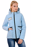 Женская демисезонная куртка 01.168 голубой, 42-48 размер