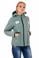 Женская демисезонная куртка 01.168 фисташковый, 42-48 размер