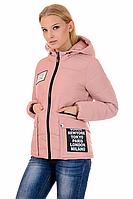 Женская демисезонная куртка 01.168 розовый, 42-48 размер
