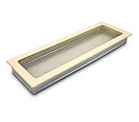 Вентиляционная решетка для камина бежевая, чёрная, графитовая, золотая, серебряная 17х49 см