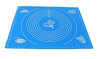 Силиконовый коврик для раскатки теста и выпечки, коврик с разметкой 68х52 см (толстый)