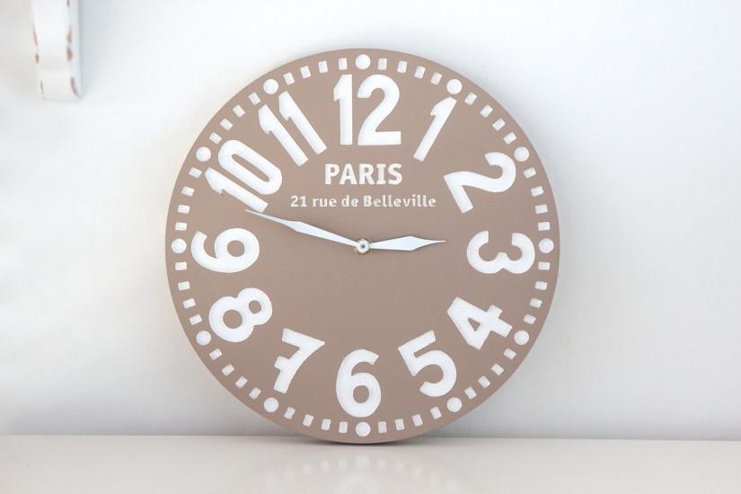 Часы Париж (пастельно-коричневые) - Sat-ELLITE.Net в Киеве