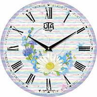 Настенные Часы Vintage Венок из полевых цветов