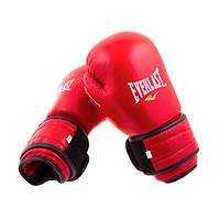 Перчатки боксерские из натуральной кожи EVERLAST BAZARI (10 унций, красный)