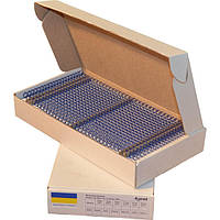 Металлические пружины А4 14,3 мм, шаг 3:1, синяя уп/100