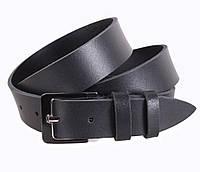 Мужской кожаный ремень под джинсы черный 3,5 см от Итальянского бренда
