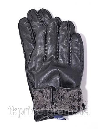 Мужские кожаные перчатки с махровой подкладкой (наружный шов), фото 2
