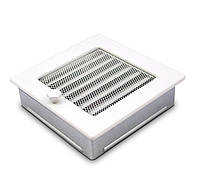 Вентиляционная решетка для камина белая 22х22 см с жалюзи