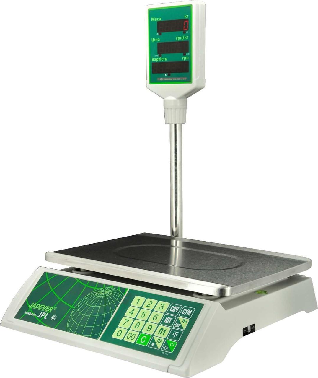 Весы торговые Jadever JPL 30K LCD, фото 1