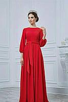 Длинное женское платье из трикотажа 0119